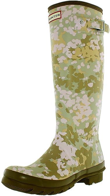 Hunter Women's Original Tall Flecktarn Camo Pale Sand Boot