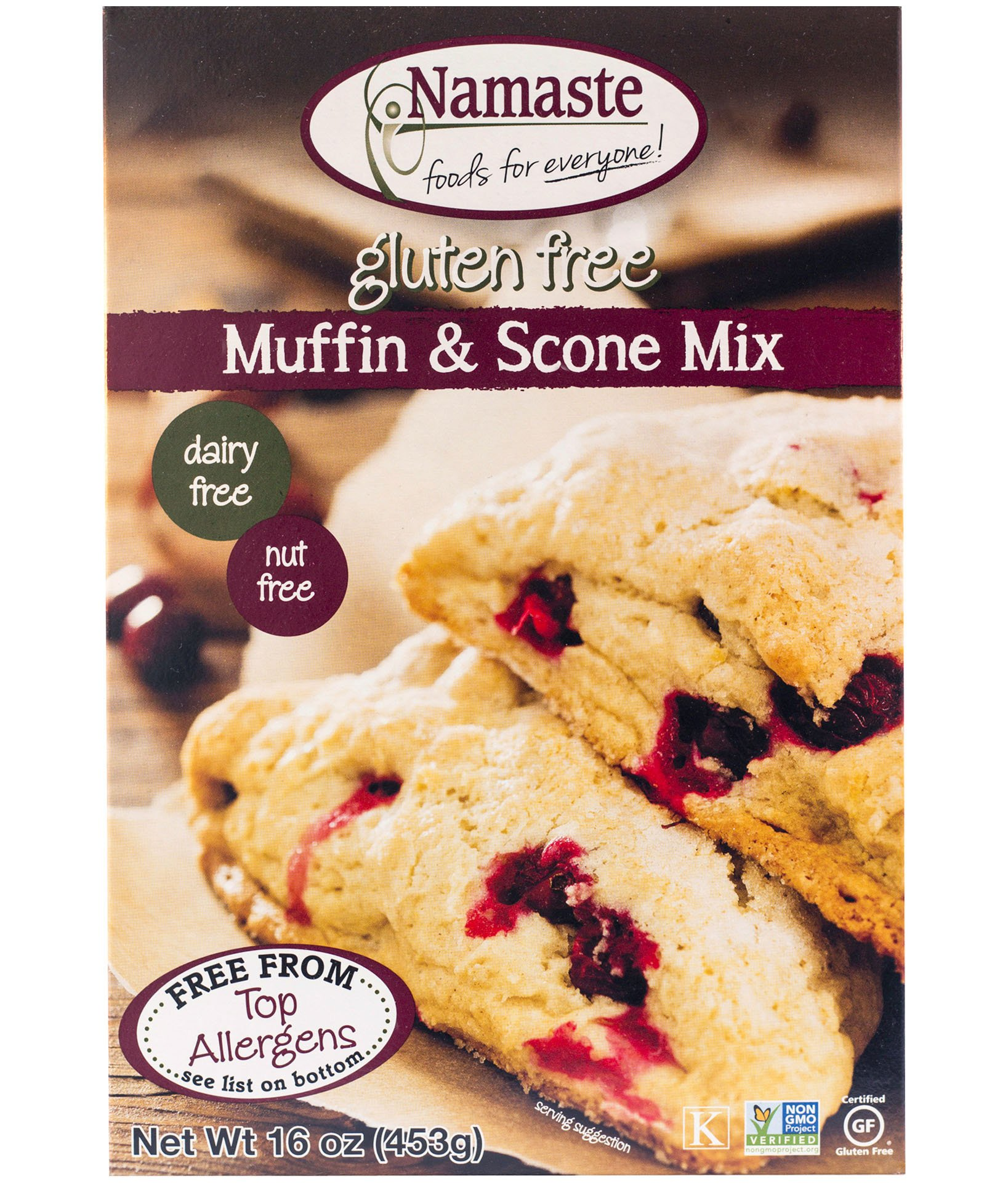 Namaste Foods, Gluten Free Muffin Mix, 16-Ounce Bags (Pack of 6) by Namaste Foods