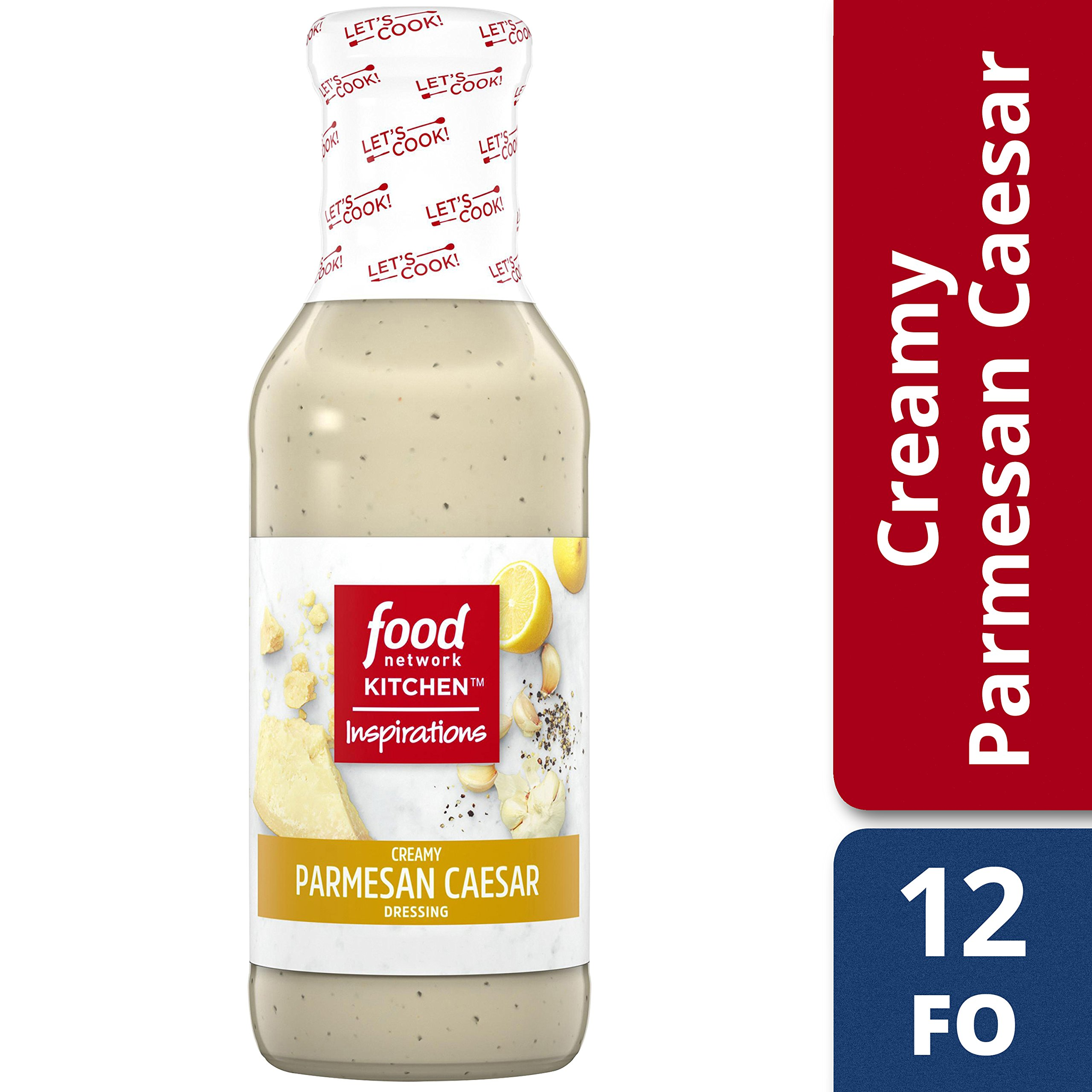 Food Network Kitchen Inspirations Creamy Parmesan Caesar Dressing, 12 oz