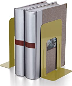Officemate 9 Inch Standard Steel Bookend, 1 Pair, Tan (93070)