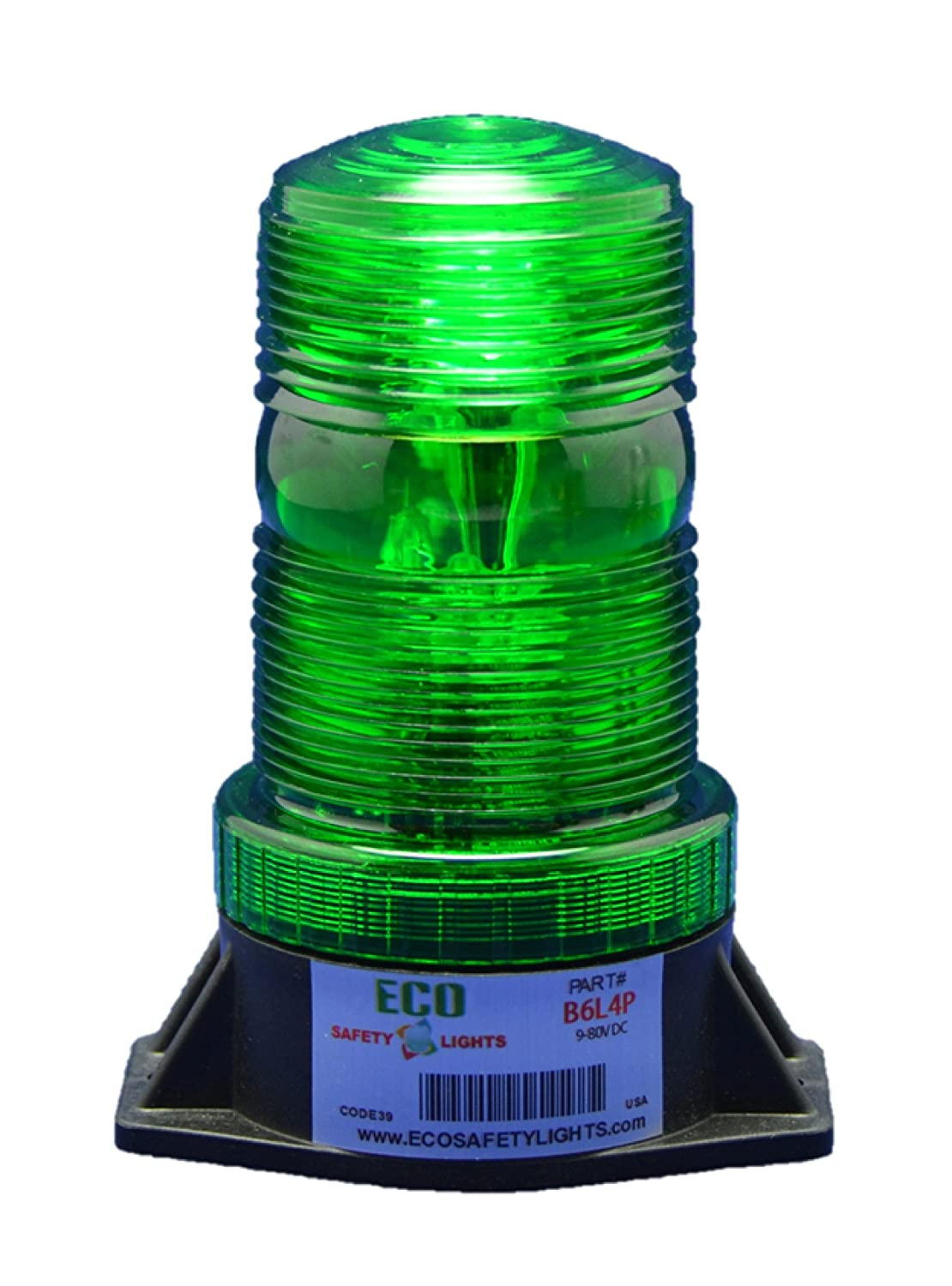 B6L4PACT GREEN 85-265V AC 3W LED 1/2 NPT PIPE MOUNT EMERGENCY WARNING LIGHT BEACON STROBE EFFECT 110V 120V 220V 240V ESafety Lights