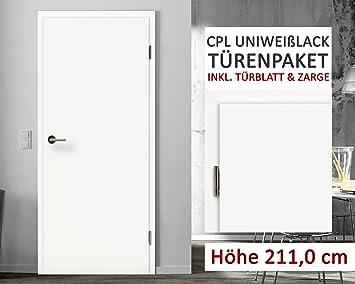Cpl Zimmertüren Paket Uni Weißlack 10 Elemente Türblatt Inkl