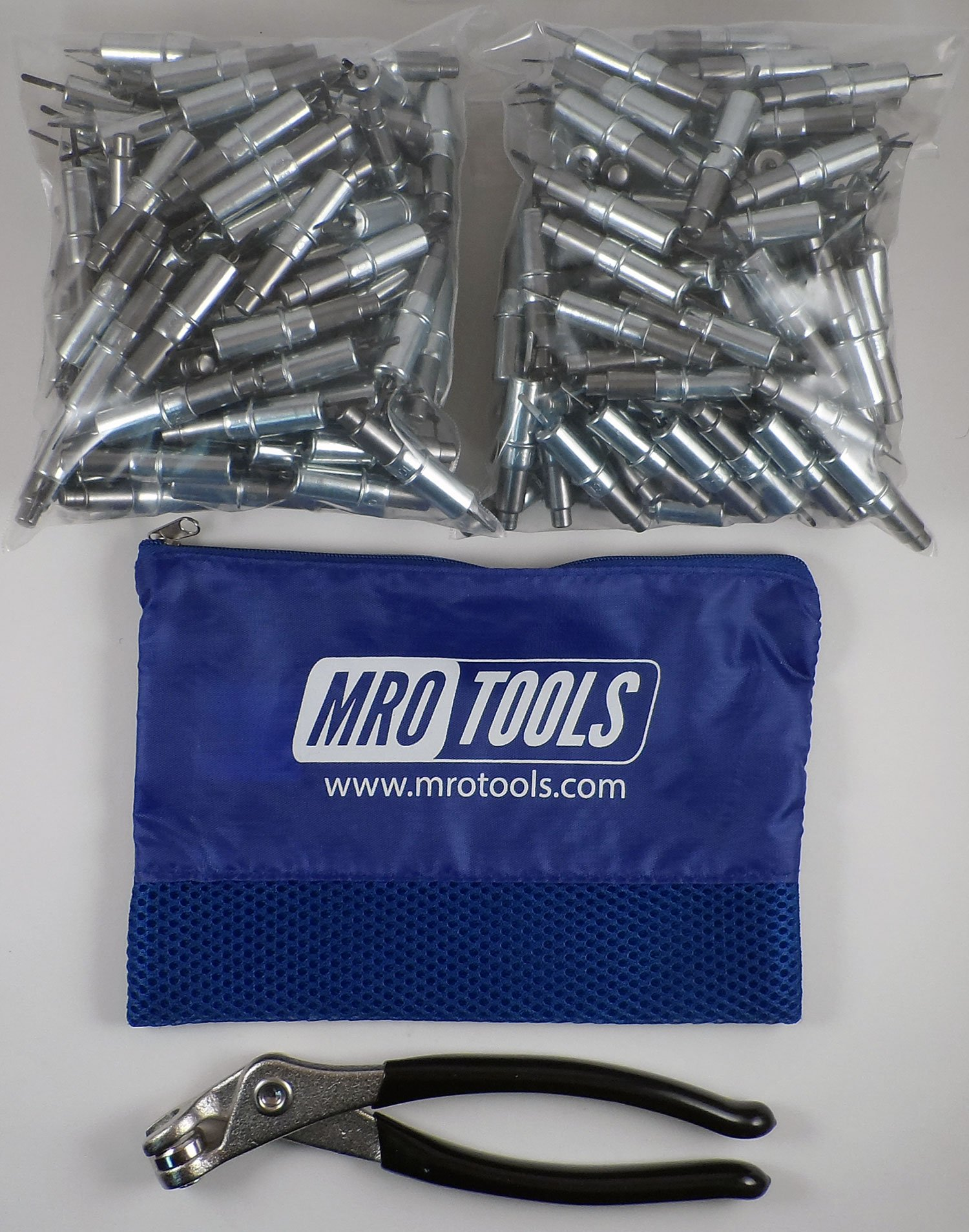 250 3/32 Heavy Duty Cleco Fasteners + Cleco Pliers w/ Carry Bag (KHD1S250-3/32) by MRO Tools Cleco Fasteners