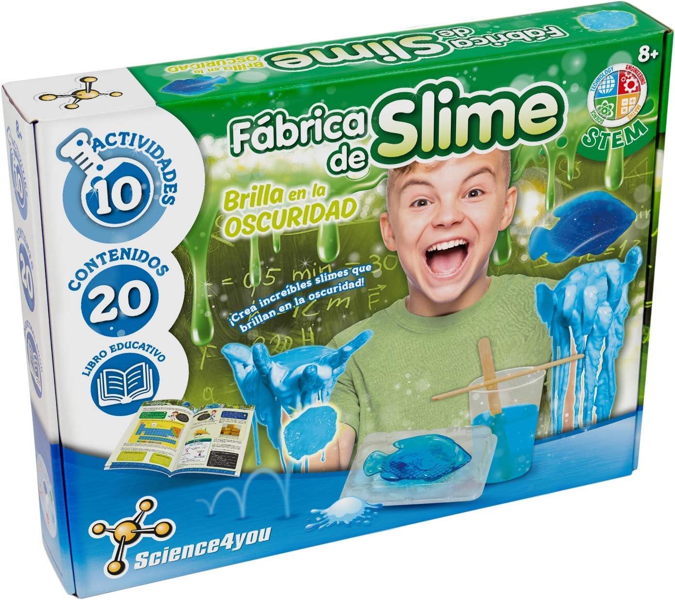 Science4you-Fábrica de Slime, Brilla en la Oscuridad, Multicolor (80002077): Amazon.es: Juguetes y juegos