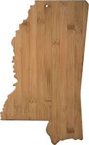 Totally Bamboo Mississippi State Shaped Bamboo Serving & Cutting Board