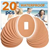 FixiC Patches for G4 G5 - Waterproof Adhesive - Oval - Pre Cut - Best Fixation for G4 G5 - Tan Color - Pack of 20
