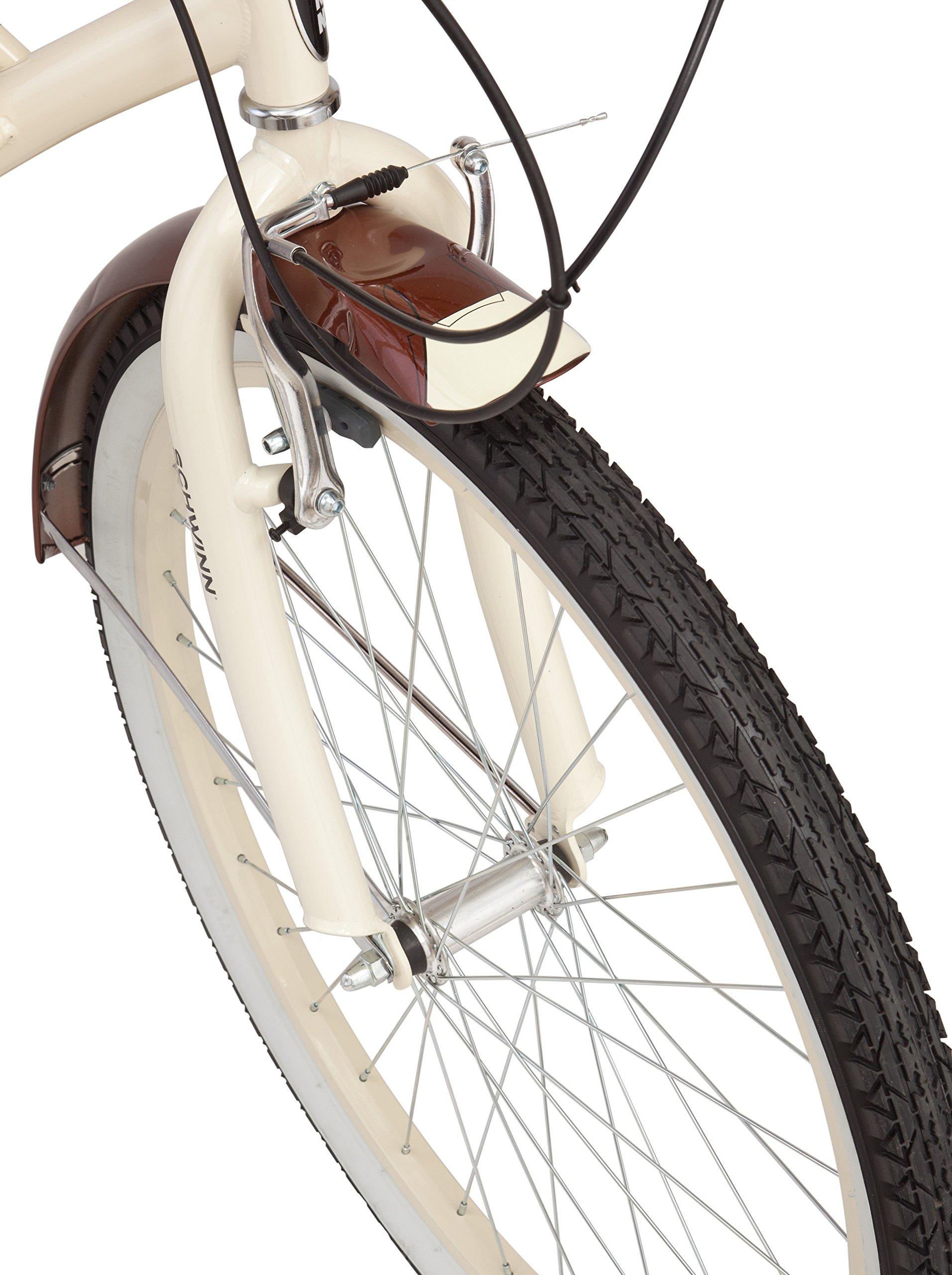 Schwinn Men's Sanctuary 7-Speed Cruiser Bicycle (26-Inch Wheels), Cream/Copper, 18 -Inch by Schwinn (Image #3)