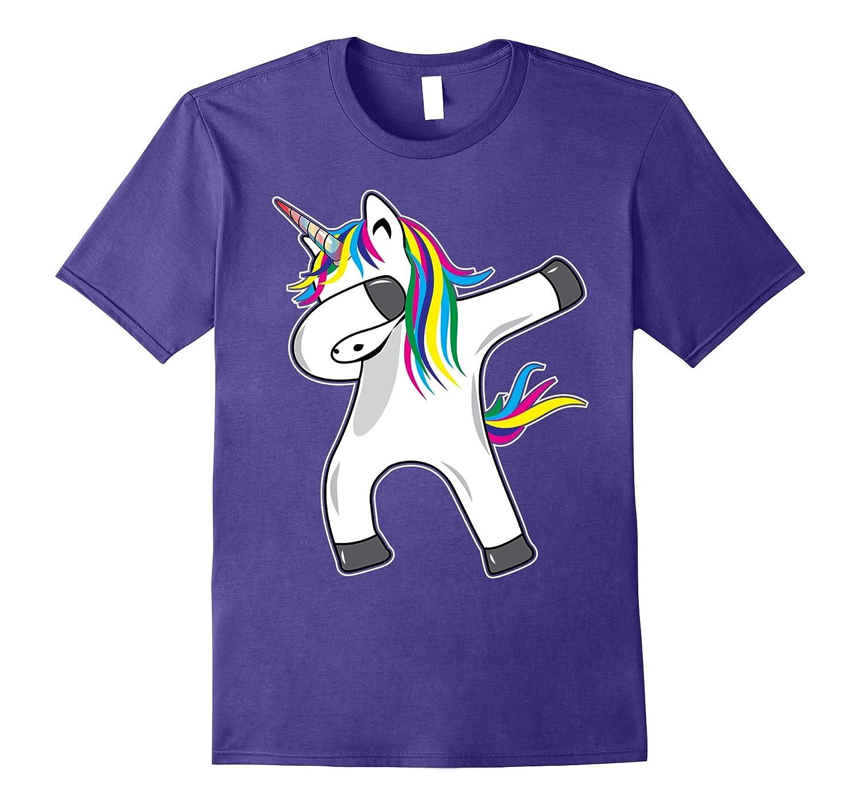 Unicorn Dabbing Novelty T-shirt-PL