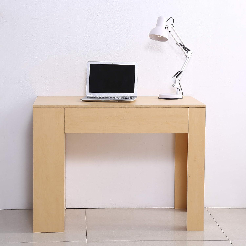 Homcom Bureau porte ordinateur pc avec 3//étag/ères pour bureau chambre en bois 100/x 60/x 75/cm