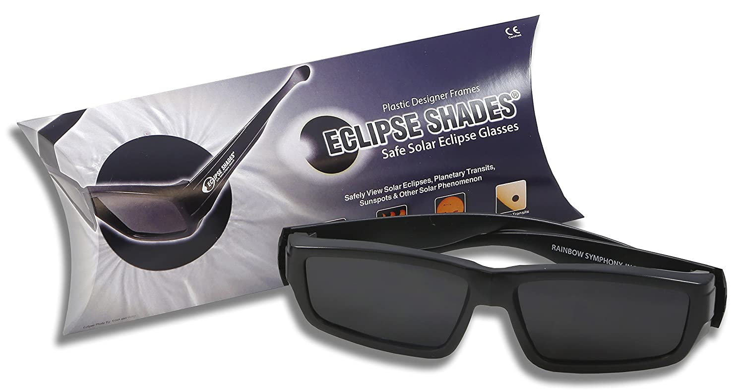 """B00V75S784 Plastic Eclipse Glasses - Eclipse Shades - with 2 Bonus Pair of Our Paper Eclipse Glasses! As we Always say""""Make a Friend!"""" CE and ISO Certified - Made in USA 81ejrusT5KL"""