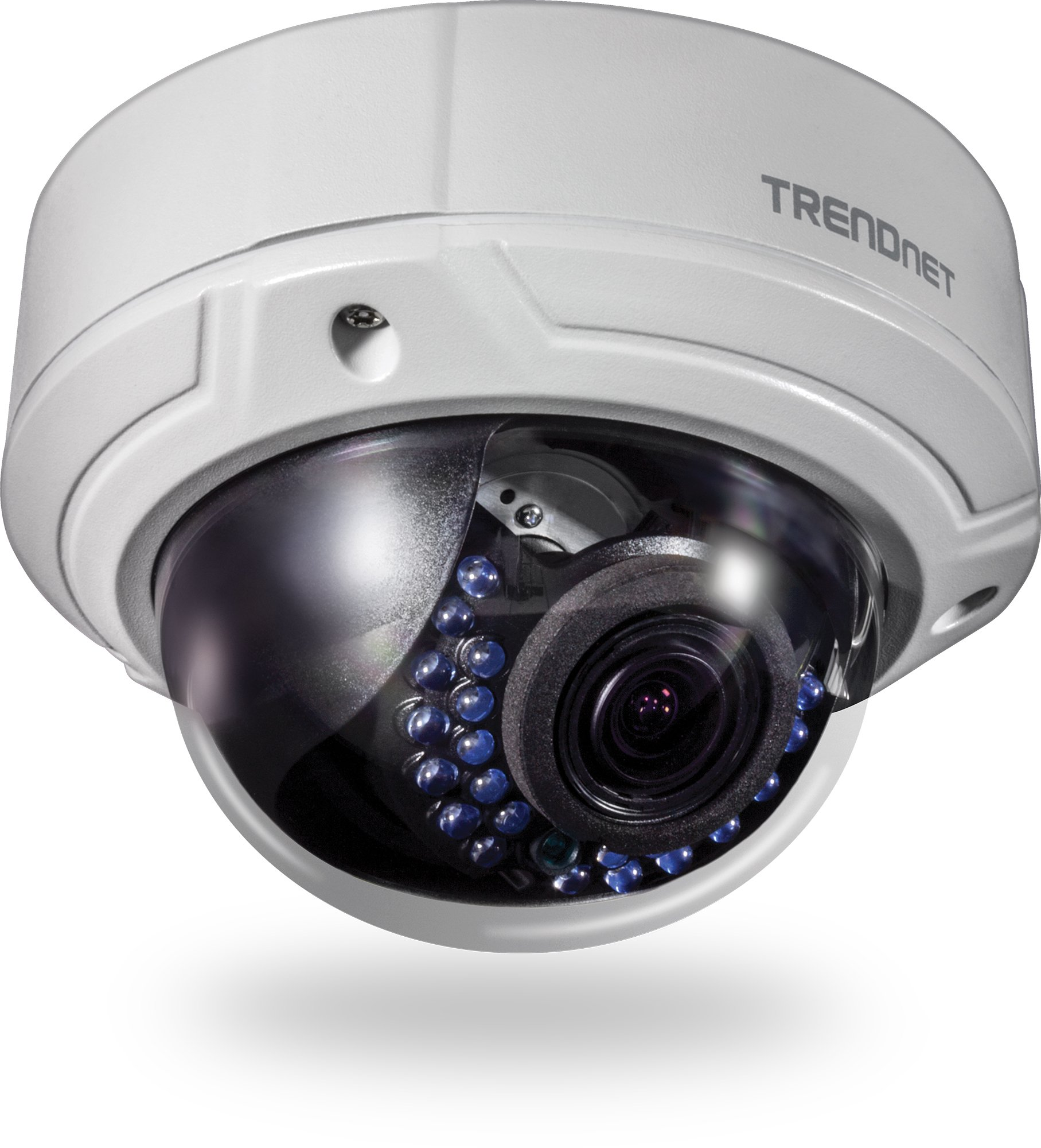 TRENDnet Indoor/Outdoor 2MP 1080p Varifocal PoE IR Dome Network Camera, IP66 Rated Housing, Adjustable Lens, Digital WDR, IK10 Vandal Resistant, ONVIF, IPv6, TV-IP341PI