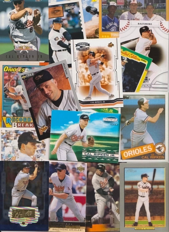 Cal Ripken Baseball Cards / 100 Card Lot - All Different