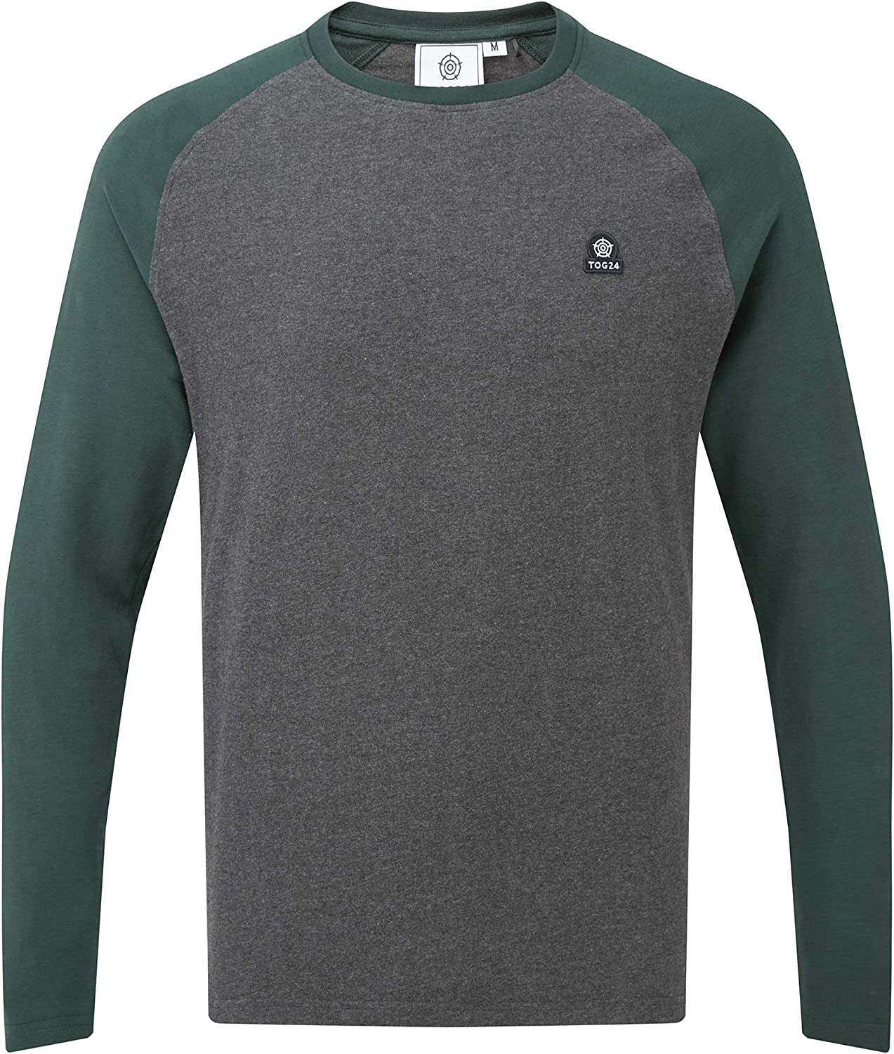 Slim Streamlined Regular Fit Textured Body with Contrast Colour Sleeves TOG 24 Haxby Mens Long Sleeve T-Shirt Perfect for Everyday Wear Leisure Casual Work Holiday Super Soft Crew Cut Jersey Tee
