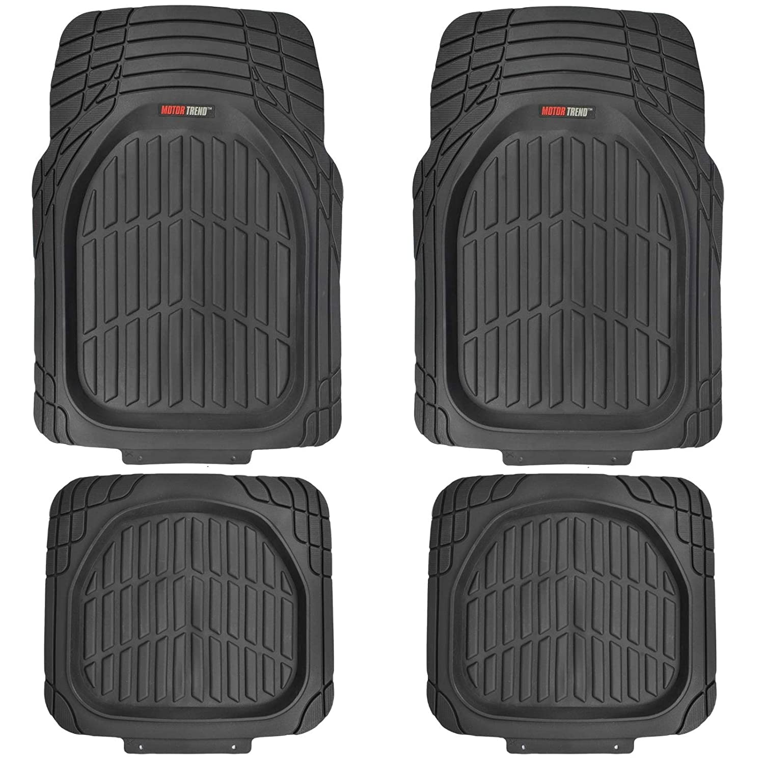 Weathertech mats walmart - Motortrend Flextough Tortoise Heavy Duty Rubber Floor Mats For All Weather Protection Deep Dish