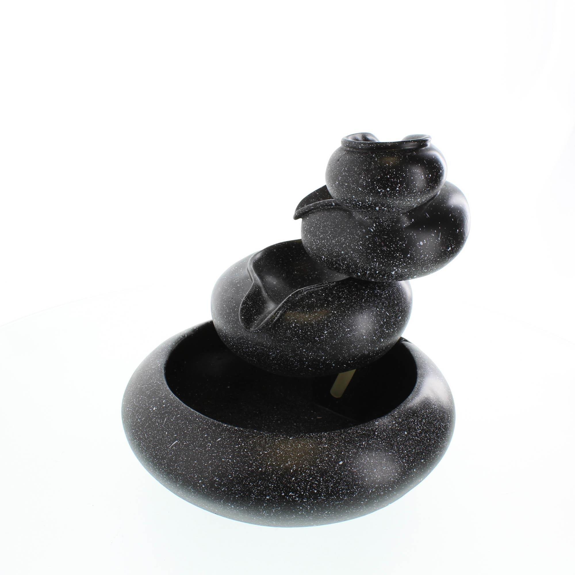 Small Water Fountain, Contemporary Rock Fountain For Home, Granite Finish