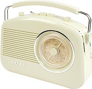 König HAVTR710BE HAV-TR710BE Radio Dise#O RETR, 5.5 W, 9 V, Beige
