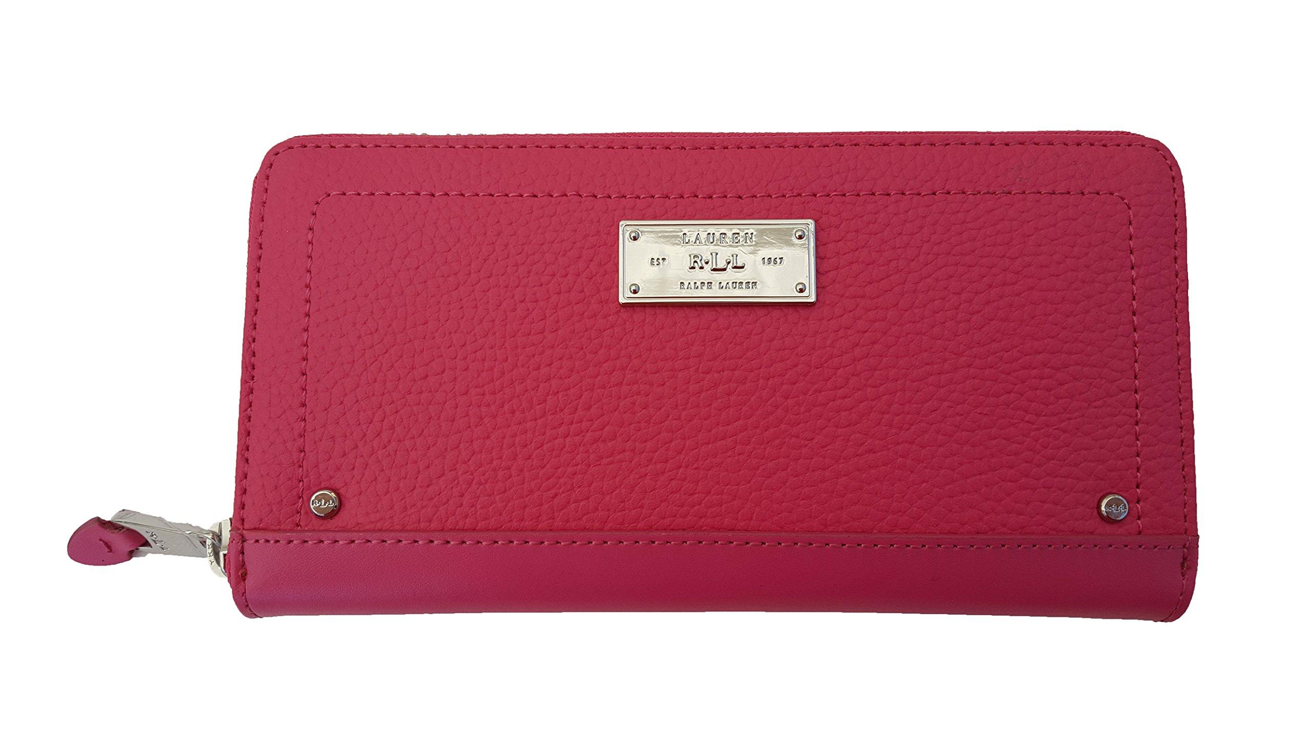 Lauren Ralph Lauren Fulton Zip Wallet (One Size, Azalea)
