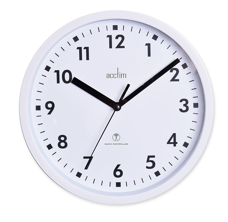 Acctim 74662 nardo 20cm radio controlled white wall clock amazon acctim 74662 nardo 20cm radio controlled white wall clock amazon kitchen home amipublicfo Choice Image