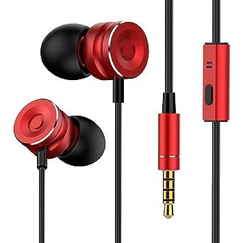 8eda0f83723 Noziroh Beats Écouteurs Intra-Auriculaires Casque stéréo avec Microphone  intégré réduction Bruit Contrôle Musique Câble