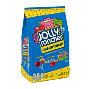 Jolly Rancher Halloween Candy Assortment, Sticks, Lollipops, Hard Candy, 46 Oz