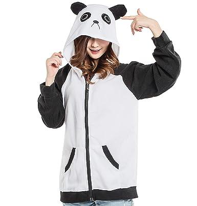 Unisex de Dibujos Animados Sudaderas con Capucha Felpa Cosplay Disfraz Animal Chaqueta, Panda: Amazon.es: Ropa y accesorios