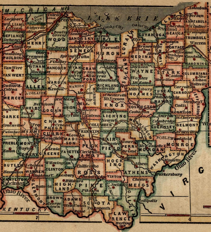 Amazon.com: Ohio state by itself 1855 Ensign & Phelps ...