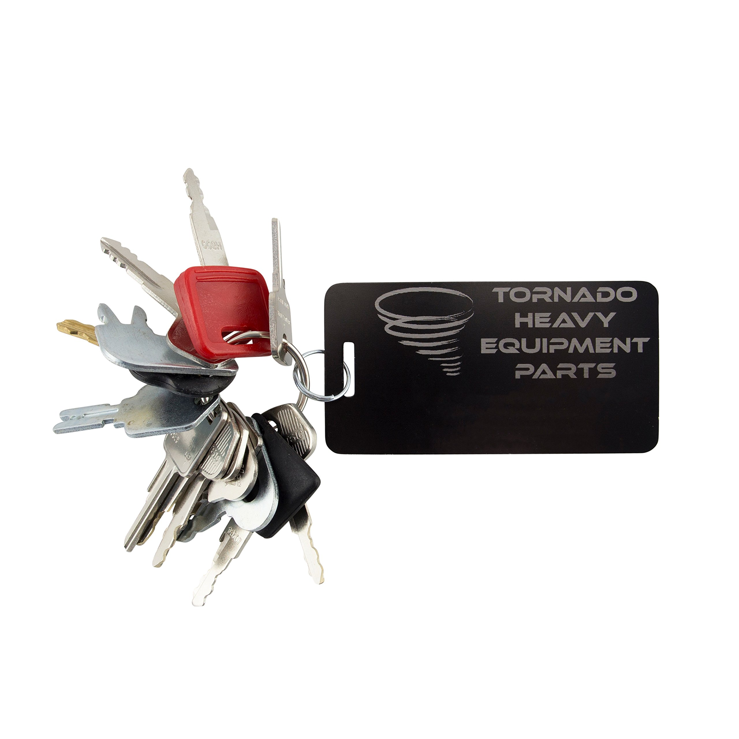 TORNADO HEAVY EQUIPMENT PARTS CONSTRUCTION IGNITION KEY SETS TORNADO - Comes in sets of 7, 10, 12, 14, 16, 18, 20 for backhoes, tools, case, cat, etc. See product description for more info. (14 Key Set)
