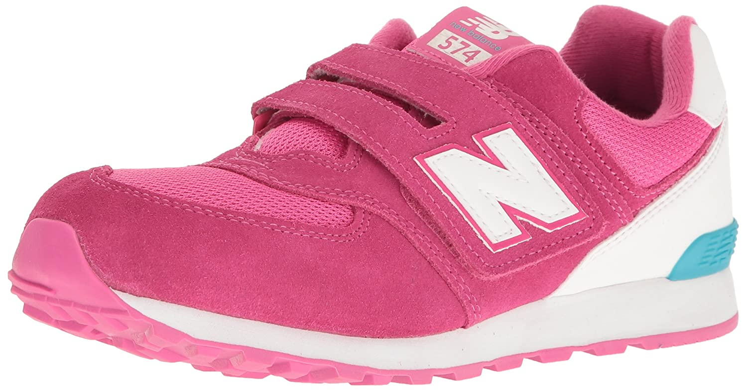 2b358b82b8e5e8 New Balance Unisex Kids  574 Hook and Loop High Visibility Low-Top Sneakers   Amazon.co.uk  Shoes   Bags