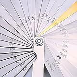 Stainless Steel Feeler Gauge Dual Marked Metric and Imperial Gap Measuring Tool