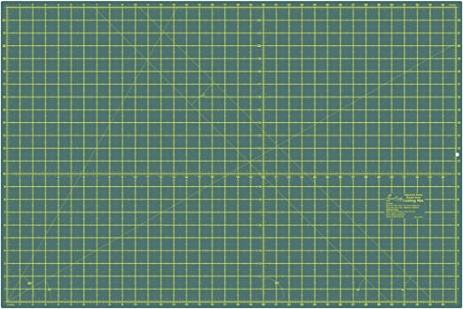 Amazon Com Sew Easy Er4090 Self Healing 2 Sided Cutting Mat Imperial Metric Grid 900x600mm