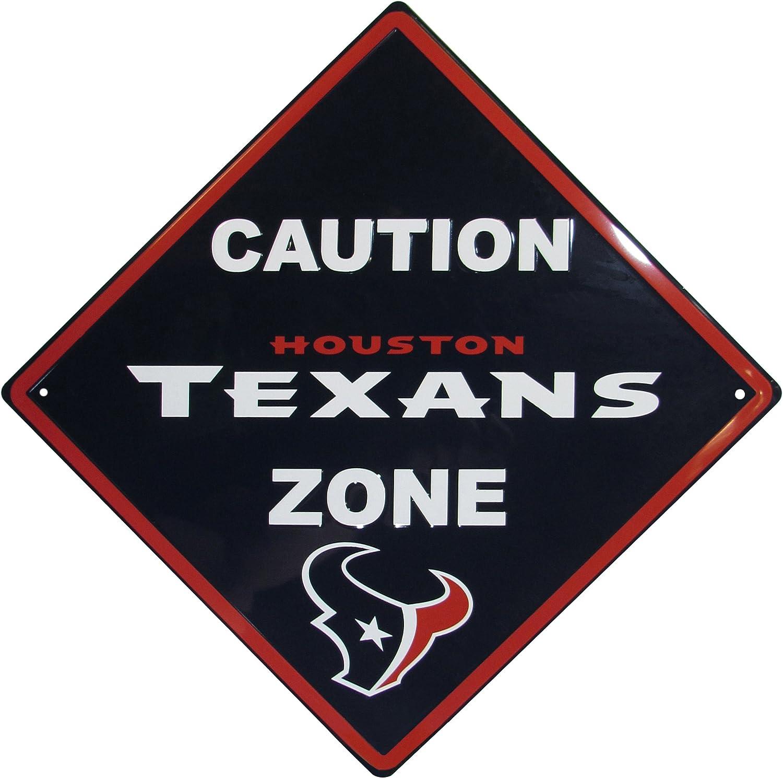 NFL Siskiyou Sports Fan Shop Houston Texans Caution Wall Sign Plaque 14 inch Team Color