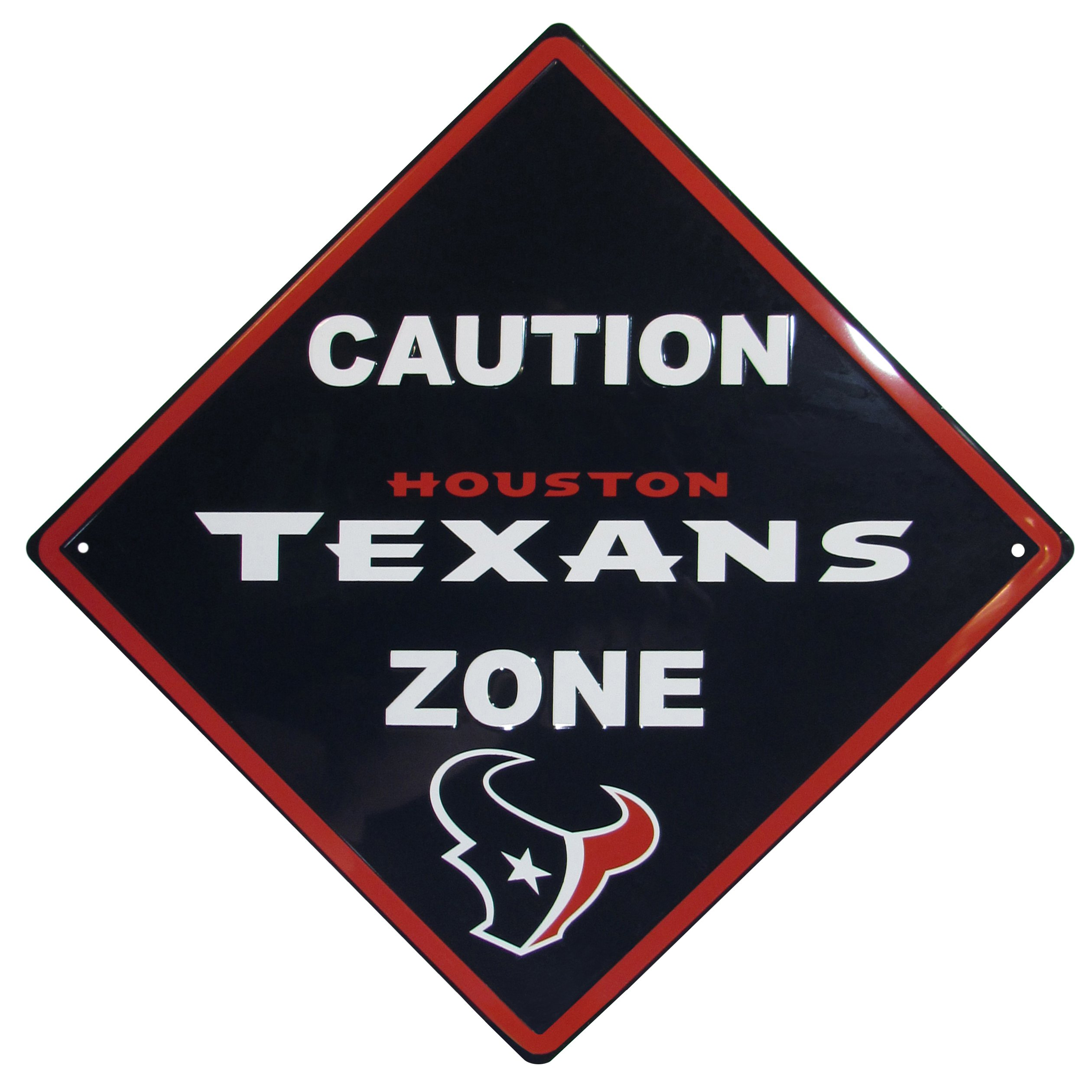 NFL Houston Texans Caution Wall Sign Plaque, 14'' by Siskiyou