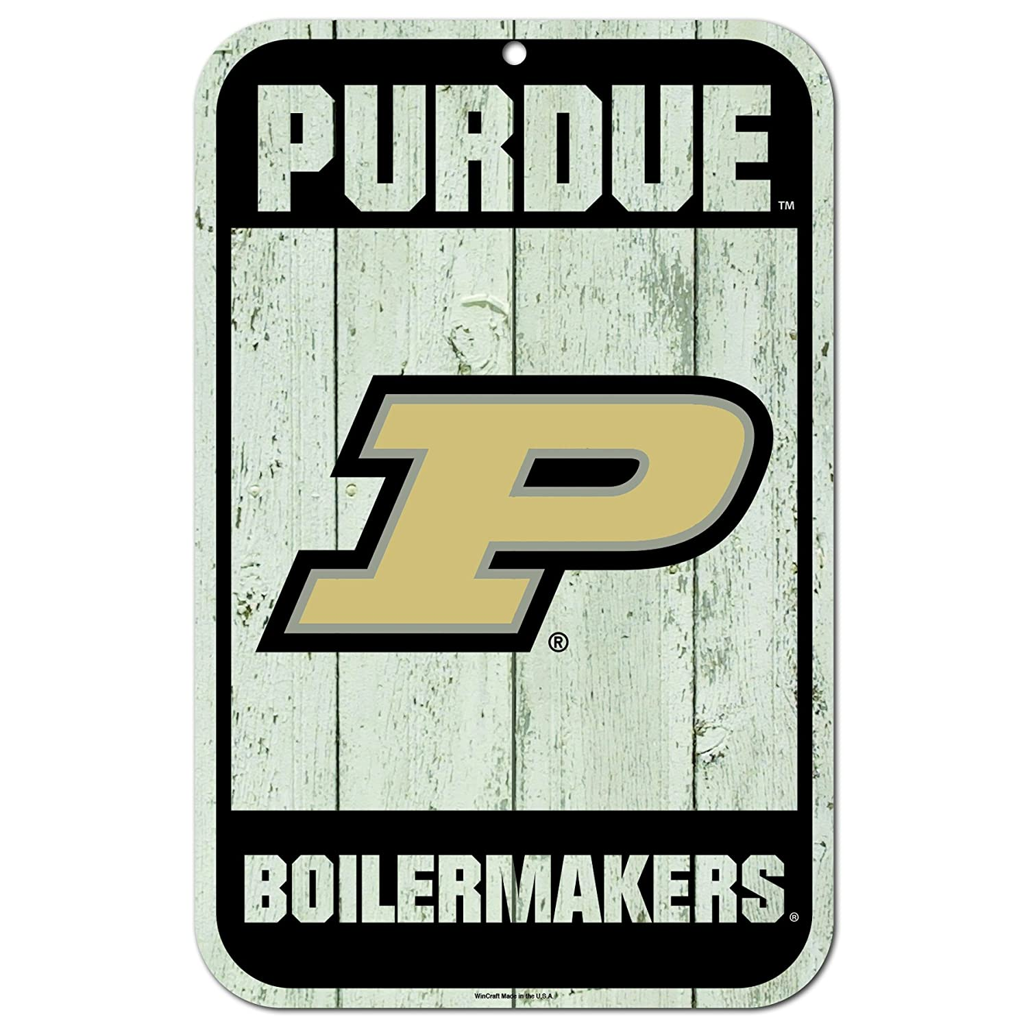 WinCraft Purdue Boilermakers Official NCAA 11 x 17 Fence Plastic Wall Sign 11x17 by 810113