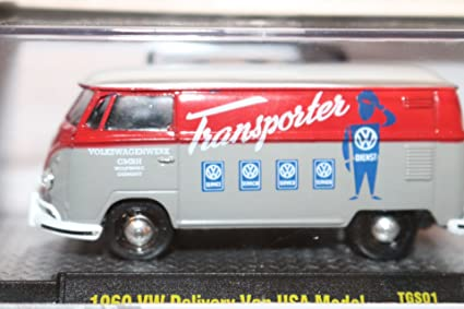 b6eacbb45b Image Unavailable. Image not available for. Color  M2 Machines Auto-Thentics  VW 1960 VW Delivery Van USA Model VW03 (15-