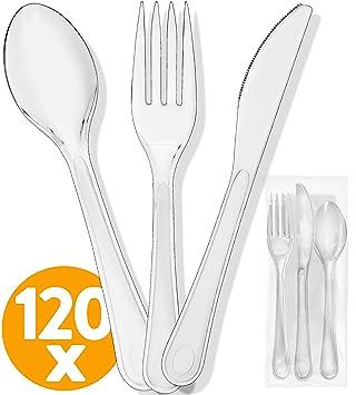 amazon com plastic silverware plastic cutlery set 480 plastic