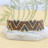 KELITCH Wax Rope Wrap Bracelets Heart Beat Shape