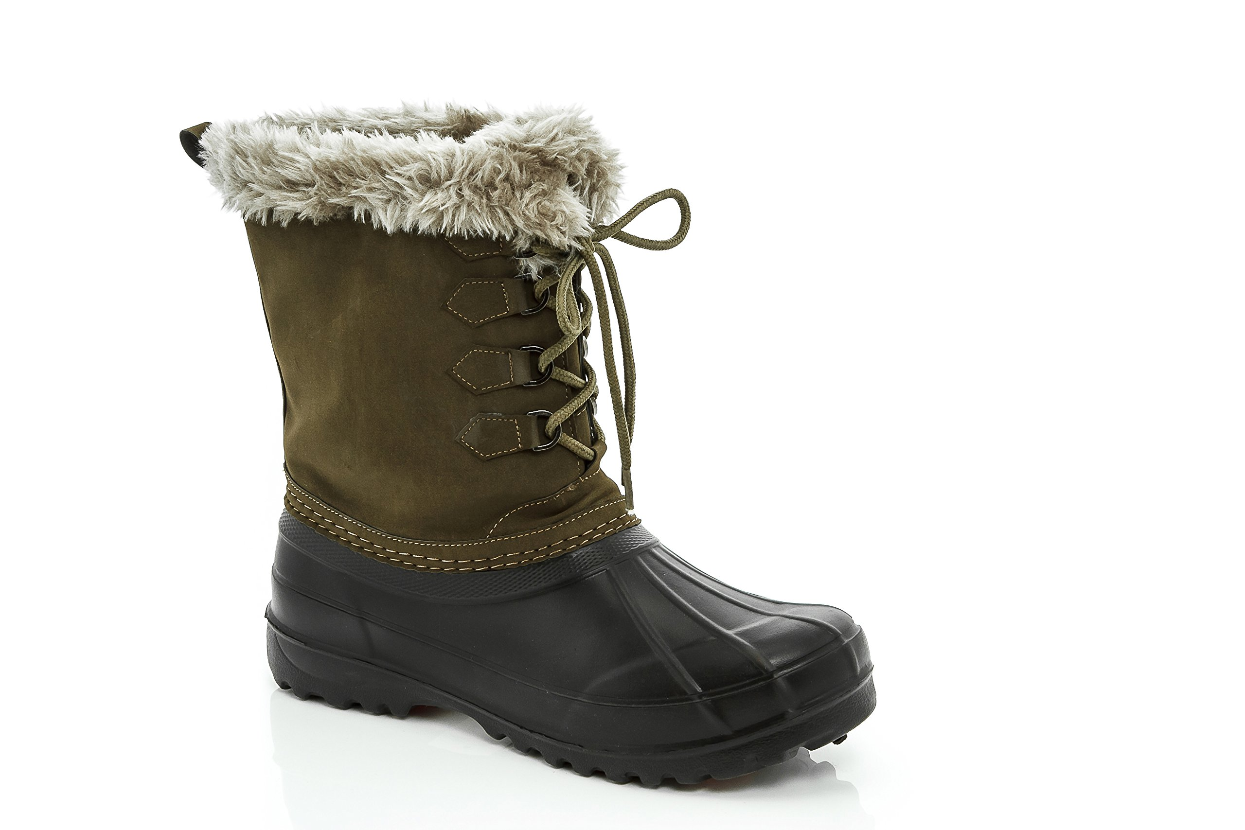 Lady Godiva Womens Duck-10 High Ankle Winter Snow Rain Boot Green & Black Size 6.5 by Lady Godiva