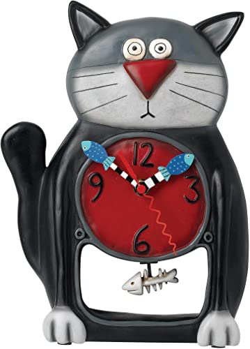 Black Kitty Pendulum Clock by Allen Designs