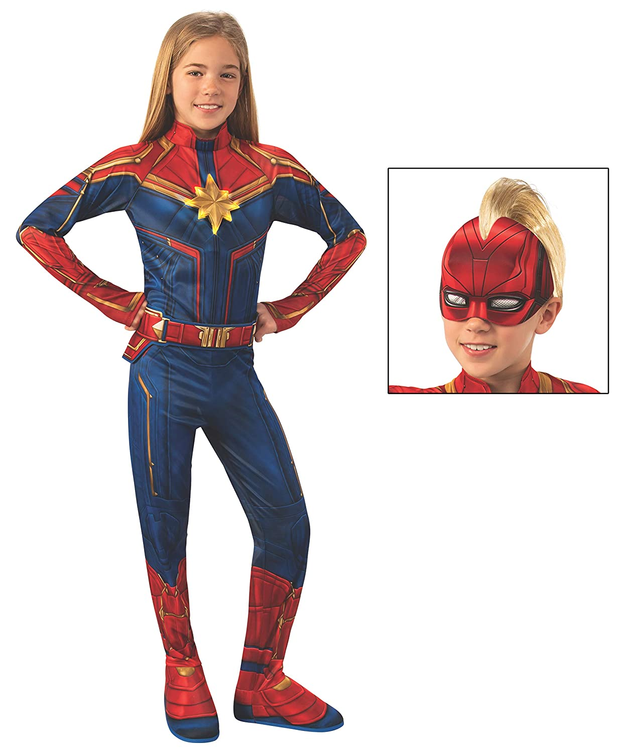 Rubies Marvel  Captain Marvel Childs Deluxe Light-Up Costume