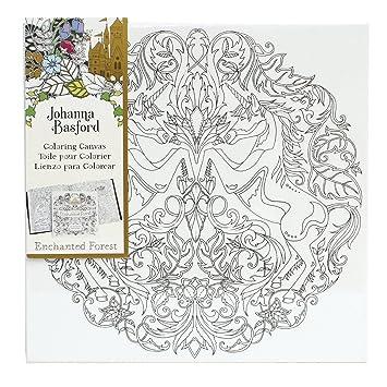 Johanna Basford Enchanted Forest Colouring Canvas Unicorn 12 X Colour