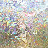 Rabbitgoo Window Film 3D No Glue Static Decorative Films Glass Window Film Anti UV, Dazzling Effect, 44.5 x 200…