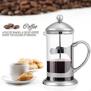Cafetera de prensa francesa de acero inoxidable de 8 tazas y vidrio, 1000 ml, de Homdox: Amazon.es: Hogar
