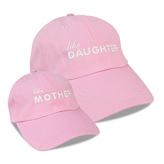 DALIX Mommy and Me Embroidered Hats Dad Caps Like Mother Like Daughter Hat  Light Pink 54037823e83
