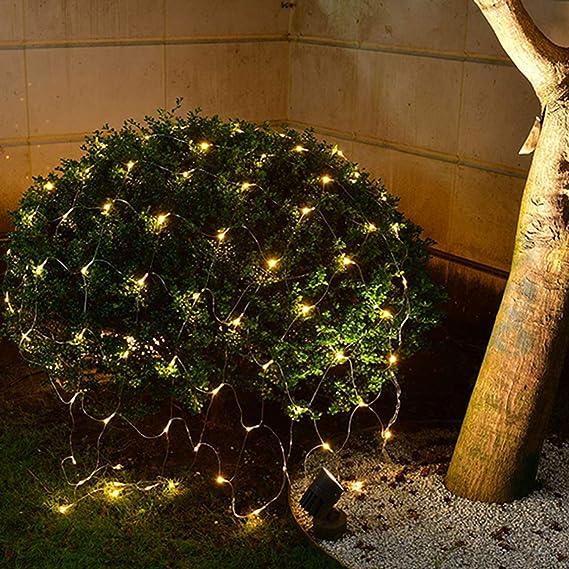 2 Meter Warmwei/ß 204 LED Lichternetz Lichtervorhang Lichterkette Deko Leuchte Innen und Au/ßen Geburtstag Party Garten Hochzeit Hengda 2