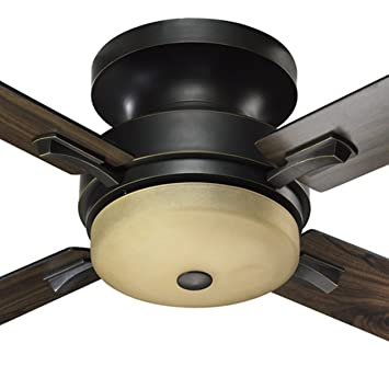 quorum international davenport inch hugger ceiling fan old world finish 52 home depot fans with lights and remote control hunter