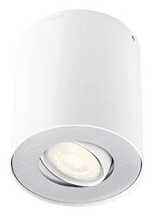 Philips Lighting myLiving Spot Foco de interior LED, 255 lúmenes, metal, 3.5 W, blanco