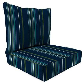 Sunbrella Stanton Lagoon 24 Inch X 24 Inch 2 Piece Deep Seat Chair