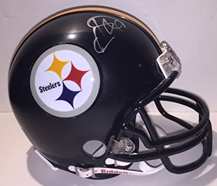 ec0986d8874 Hines Ward Signed PITTSBURGH STEELERS Riddell Mini Helmet EXACT PICTURE  PROOF SIGNING