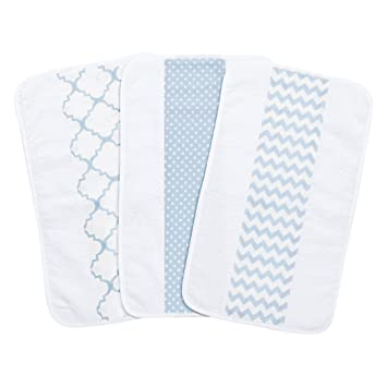 Fox Face on Aqua Burp Cloth 1 Only Toweling Back GREAT GIFT IDEA!!