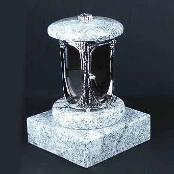 designgrab aluminio Grab lámpara con base de granito 20 x 20 x 5 cm, cromo